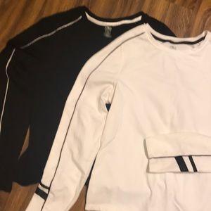 2 long sleeve active wear shirts